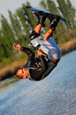Somersault on a Wakeboard Stock Image