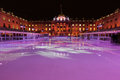 Sommerset House ice rink Royalty Free Stock Photo