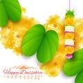 Sona patta for wishing Happy Dussehra