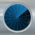 Sonar or radar screen Royalty Free Stock Images