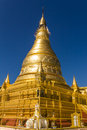 Sone oo pone nya shin pagoda sagaing hill myanmar burmar historical ancient Royalty Free Stock Photography