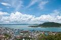 Songkhla stad från bästa sikt Arkivbild
