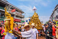 Songkran festival chiangmai thailand april chiangmai the tradition of bathing the buddha phra singh marched on an annual basis Royalty Free Stock Photos