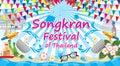 Songkran Festival of thailand, vector sign symbol Royalty Free Stock Photo