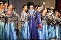 Songs performance folk ensemble kazachya volnitsa in rostov on don russia october beautiful ethnic dance and patriotic Stock Photo