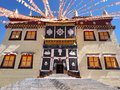 Songzanlin Temple also known as the Ganden Sumtseling Monastery, is a Tibetan Buddhist monastery in Zhongdian city( Shangri-L Royalty Free Stock Photo
