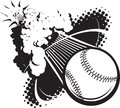 Sonic boom baseball a flying breaking the sound barrier Royalty Free Stock Images