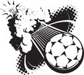 Sonic boom soccer ball a flying breaking the sound barrier Stock Photography