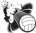 Sonic Boom Volleyball Royalty Free Stock Photo