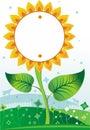 Sonnenblume background1 Stockbilder