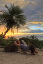 Sonnenuntergang-Entspannung Stockbilder