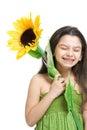 Sonrisa de la chica joven Fotografía de archivo libre de regalías