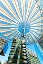 Sony center berlin a canopy at the office location at potsdamer platz in downtown germany Stock Image
