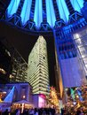 Sony Center at night Royalty Free Stock Image