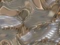 Soothing Liquid Flowing Metal Abstract Background Royalty Free Stock Photos