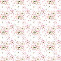 Sophisticated beautiful cute lovely tender herbal floral spring flowers of apple with green leaves and bees pattern
