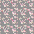 Sophisticated beautiful cute lovely tender herbal floral spring flowers of apple with green leaves pattern on beige background