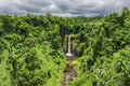 Sopoaga waterfalls, Samoa Royalty Free Stock Photo