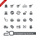 Sopping Icons // Basics Royalty Free Stock Image