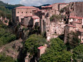 Sorano town medieval in italy Stock Photos