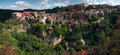 Sorano town medieval in italy panoramic image Royalty Free Stock Photo