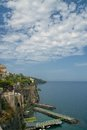 Sorrento coast italy view of on gulf of naples Royalty Free Stock Photo