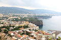 Sorrento is a small town in campania in the south of italy the town overlooks the bay of naples as the key place of the sorrentine Royalty Free Stock Photo