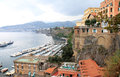 Sorrento is a small town in campania in the south of italy the town overlooks the bay of naples as the key place of the sorrentine Royalty Free Stock Photos