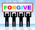 Sorry forgive means sign advertisement and apologetic indicating message apologise Stock Photography