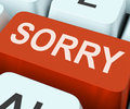 Sorry Key Shows Online Apology...