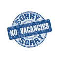 Sorry no vacancies stamp Stock Images