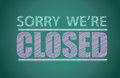 Sorry we're closed Stock Photography