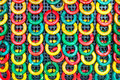 Sorted circle multicolored a ceramic Stock Image