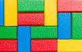 Sorted toy block background colorful Stock Photo
