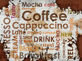 Sorts of coffe Royalty Free Stock Images