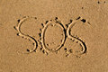 SOS Royalty Free Stock Photo