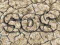 SOS drought. Royalty Free Stock Photo