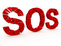 Sos sign broken Royalty Free Stock Images