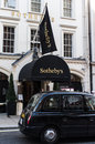 Sothebys auction house located in london england Royalty Free Stock Image