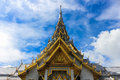Sothorn temple in chachoengsao thailand and blue sky Stock Photography