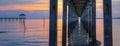 Sotto pier sunset ii Immagine Stock Libera da Diritti