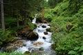 Sottoguda canyon a river at the italian alpines Stock Photos