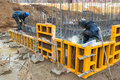 Soudeuses de chantier de construction Image stock