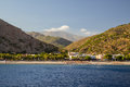 Sougia town on southern crete small of located Royalty Free Stock Images