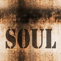 Soul music grunge background Royalty Free Stock Photo