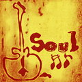 Soul music word Royalty Free Stock Photo
