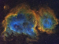 The soul nebula high resolution image of in cassiopeia Stock Photos