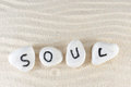 Soul word Royalty Free Stock Images