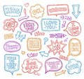 Sound bubble speech bubbles with phrases word.