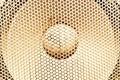Sound concept - macro on audio speaker Royalty Free Stock Photo